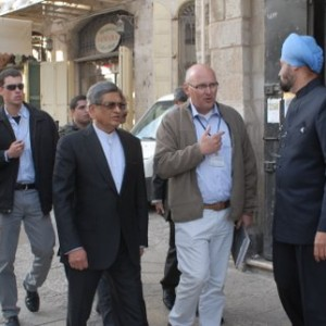 Guiding Foreign Minister of India. Mr. S.M. Krishna (2)