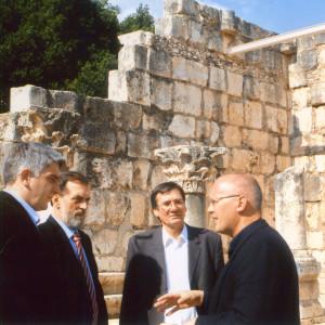 Guiding Foreign Minister of Serbia, Mr. Vuk Draskovic at Capernaum