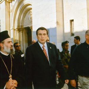 Guiding President Mikheil Saakashvilli of Georgia