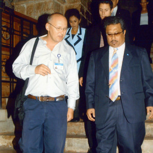 Guiding President Tommy Remengesau of Palau