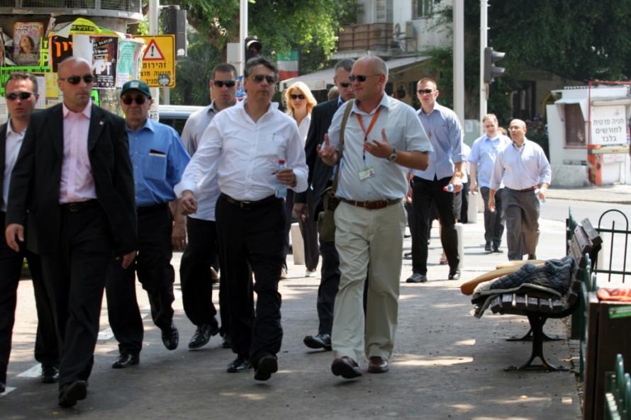 Guiding Prime Minister Jan Fischer of Czech Republic