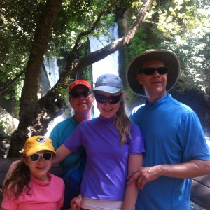 Belz Family at the Banias Waterfall, Israel