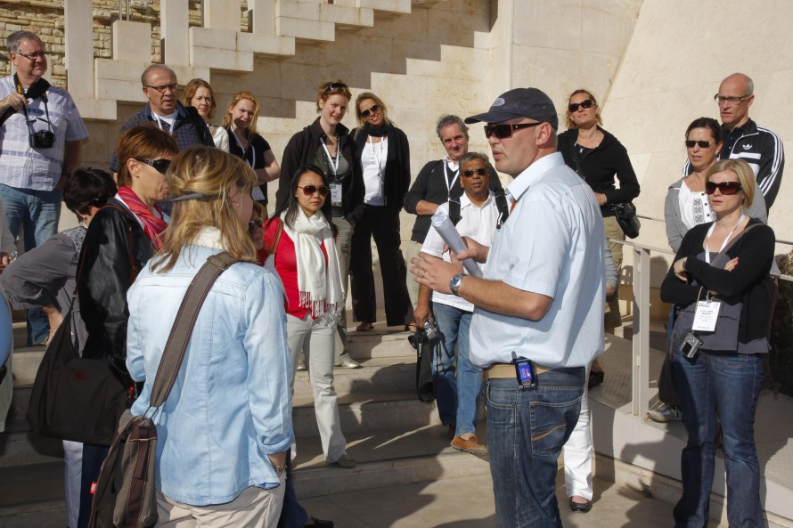 Guiding Europeans Travel Agents at Israel
