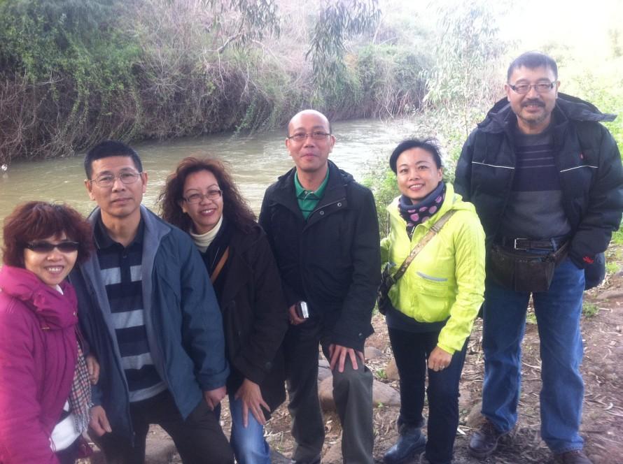 Hong Kong Delegation from Tao4u at the Jordan River