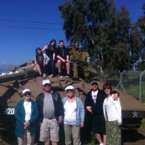 Landis Family Visit the Armoured Brigade Base
