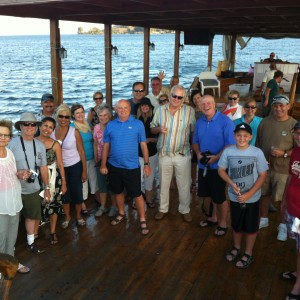 Pastor Mooney Group at Sea of Galilee