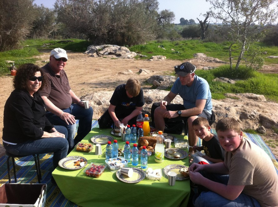 Picnic Lunch with Kosser Family