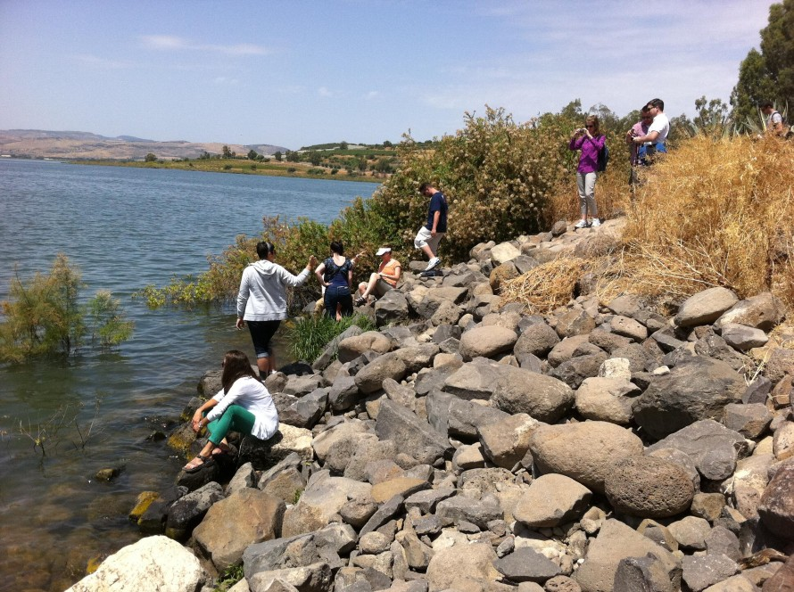 Reaching the sea of Galilee