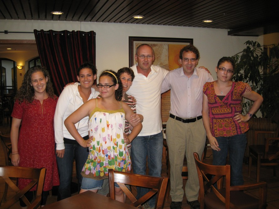 Ziv with Veiss Family at Israel, 2008
