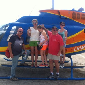 Israel helicopter ride with the Sack Family