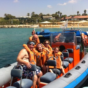 Tornado Boat Sail at Ceasrea Israel with Sack family