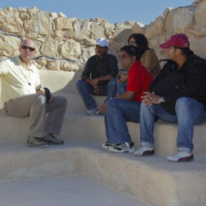 Guiding travel agents from India at Israel