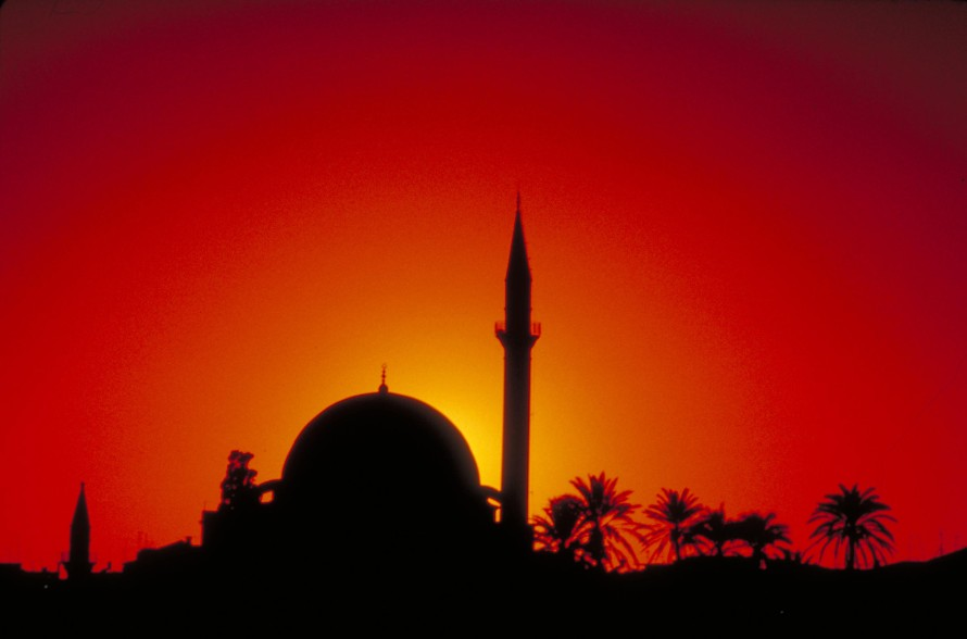 El-Jazzar mosque at sunset