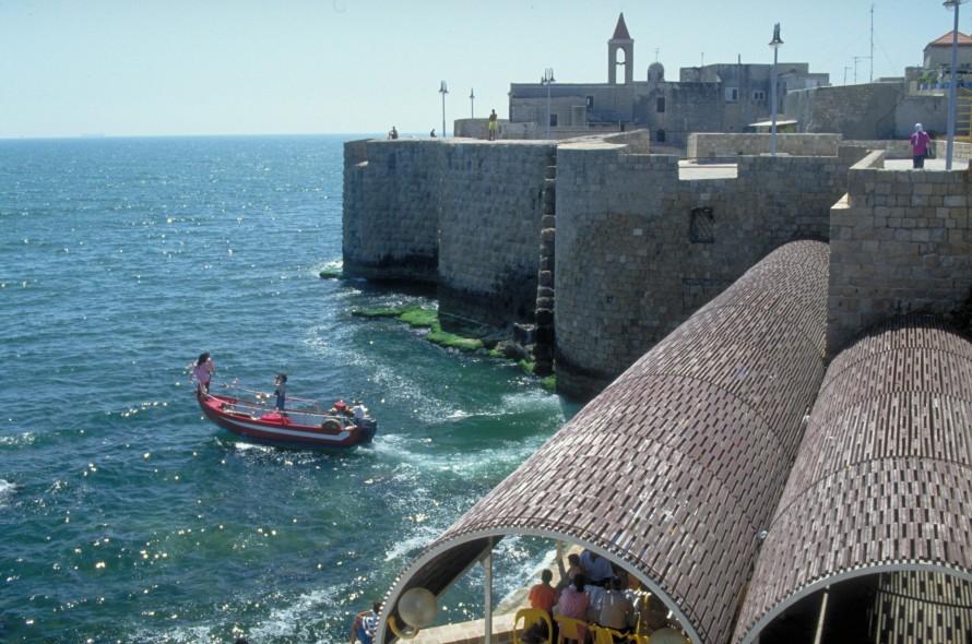 Old Mediterranean sea wall and promenade