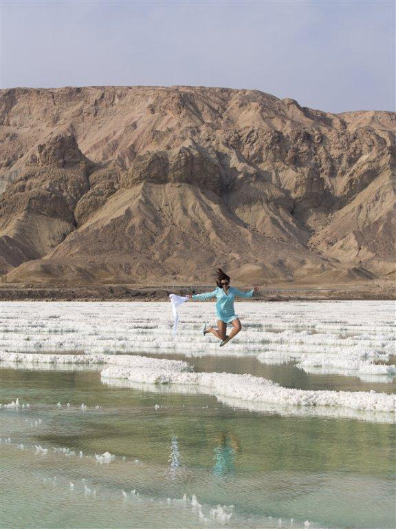 Salt formations at the Dead Sea
