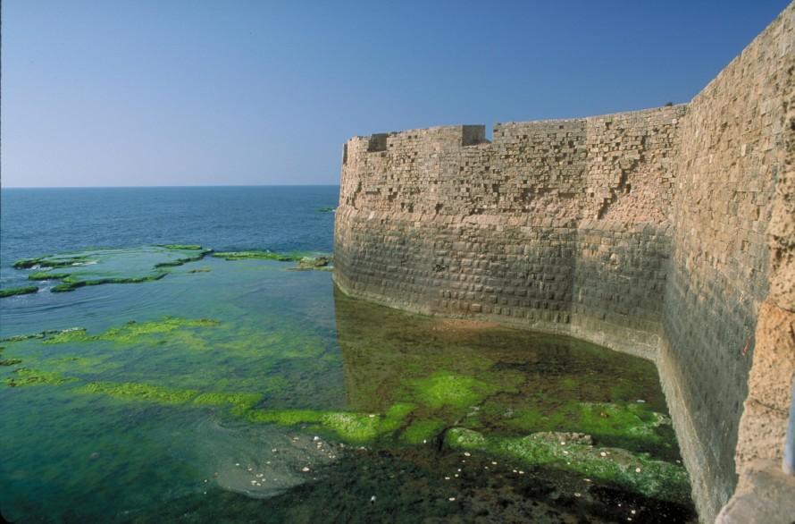 The old Mediterranean sea wall